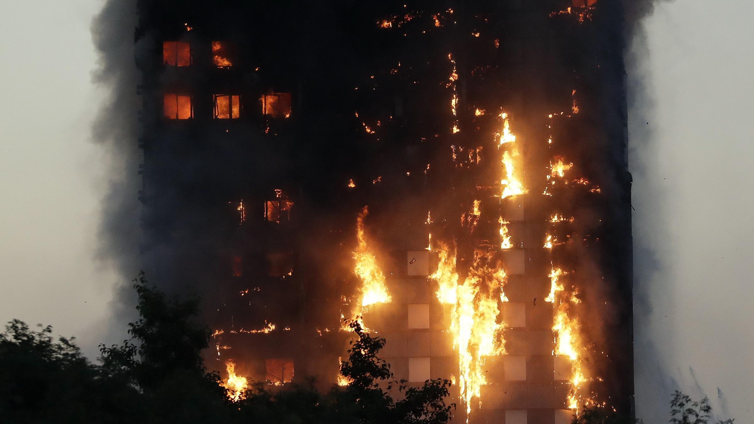 London fire: Six dead, dozens injured, building gutted in Grenfell Tower blaze