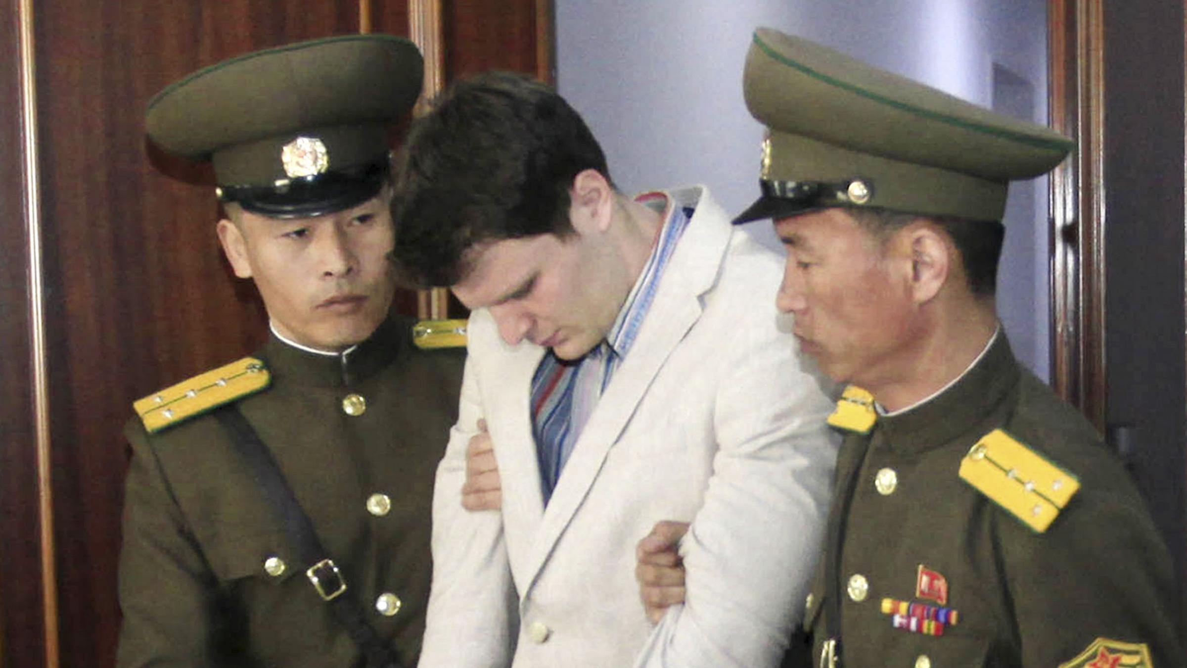 U.S. student, freed from North Korea with neurological injury, was 'brutalized' - father
